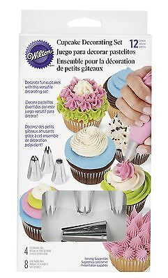 Wilton DESSERT DECORATING Kit 12 Piece with 4 Various Tips & 8 Disposable Bags