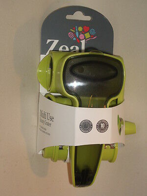 New Zeal Rotary Cheese Drum Grater Plastic Body Green J258