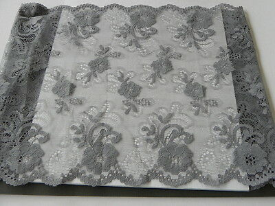 Card of New Very Wide Lace - Charcoal