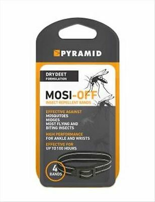 Mosi-Off Mosquito/ Insect Repellent Ankle/Wrist Bands - Pack of Four