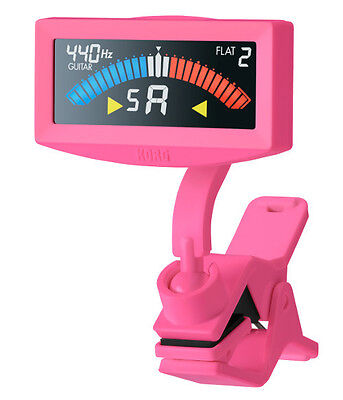 KORG AW-4G PitchCrow Cliptuner, pink