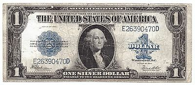 1923 United States Silver Certificate $1 one 1 Dollar USA     6317