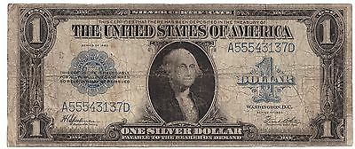 1923 United States Silver Certificate $1 one 1 Dollar USA     6324