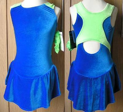 New GK Velvet ICE SKATING  DRESS Child Large or 8-11 Years