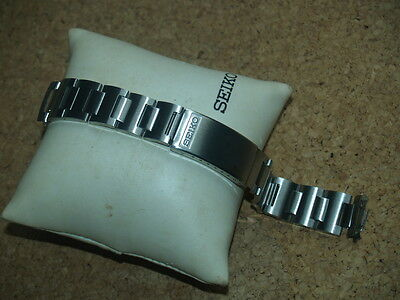 SEIKO VINTAGE 18mm BRUSHED STAINLESS STEEL WATCH STRAP STELUX FLAT LUGEARS