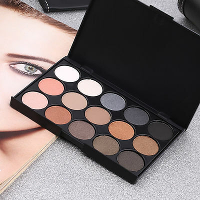 Professional 15 Colors Matte Shimmer Eyeshadow Palette Makeup Cosmetic set~JX