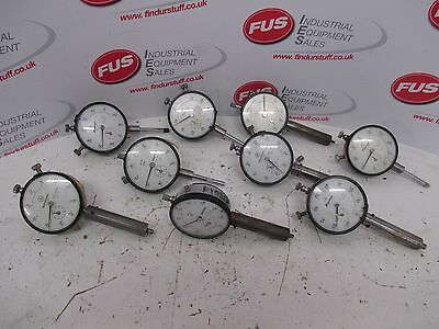 9 x Mitutoyo Dial Gauges 2416 & 2414 - Used Condition