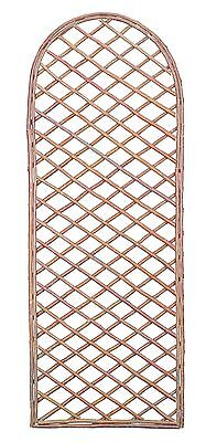 Large Willow Garden Curved Top Trellis - Climbing Plant Wall Trellis 1.8m x 0.6m