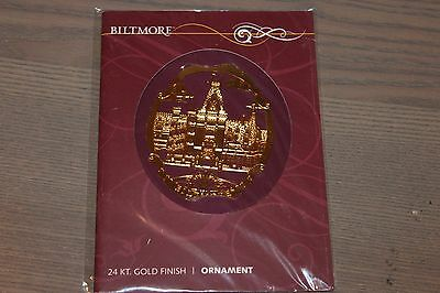 Biltmore 24kt Gold Finish Biltmore House Estate Souvenir Ornament Asheville NC