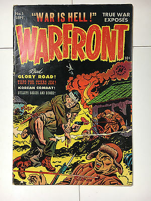 Warfront #1 F Harvey comic Powell art 1951