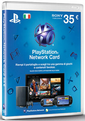 Psn Card 35 € Playstation Network Card Per Sony Ps3- Ps4- Psvita- Psp- Psp Go