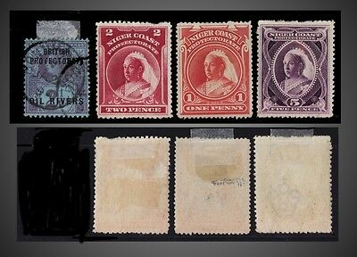 1892 ,1894 Niger Coast Protectorate Small Lot Mint And One Used
