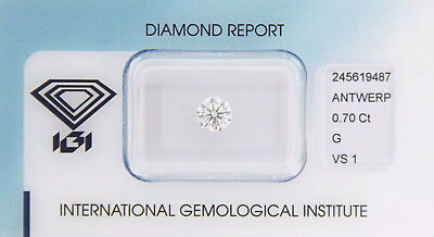 Diamant 0,70ct G VS 1