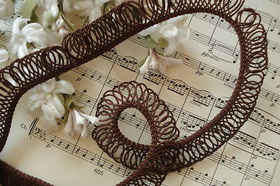 Vintage French Millinery Wired Loop Ribbon Soutache Gimp Cord Trim Hat Flower