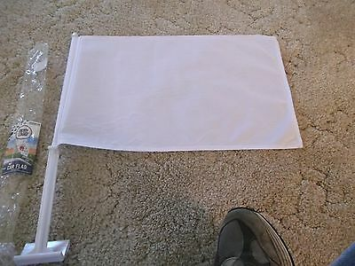 A 17 X 11.7 Inch Blank Car Flag. New In Original Package