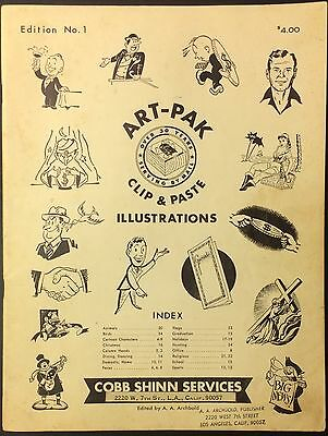 Art-Pak Clip Paste Commercial Art Cob Shinn Vintage 1950s Midcentury Advertising