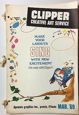 Clipper Creative Art Svc 1969 Vintage Commercial Clip Art Book Dynamic Graphic