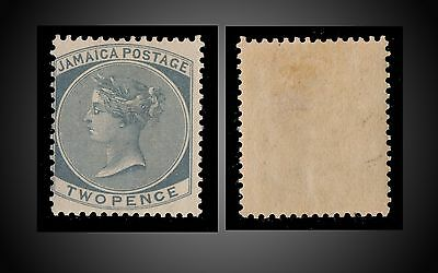 1886 JAMAICA QUEEN VICTORIA 2 P SLATE MINT LITTLE HINGED SCOTT 20 SG 20a