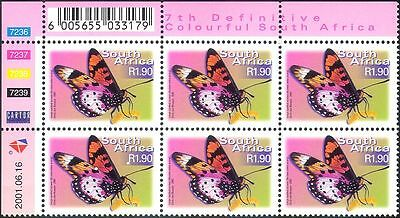 RSA/South Africa BUTTERFLY/Butterflies/Insects 7th Defin c/b n16777