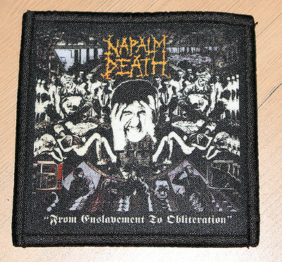 "NAPALM DEATH ""FROM ENSLAVEMENT TO OBLITERATION"" silk screen PATCH"