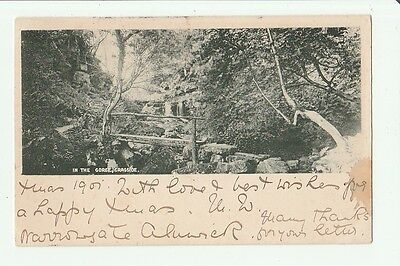 Vintage Postcard Of The Gorge, Cragside.  Posted With Queen Victoria Stamp.