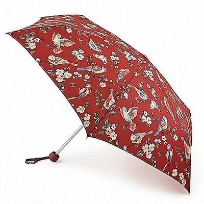 Cath Kidston Minilite Folding Umbrella - British Birds Berry