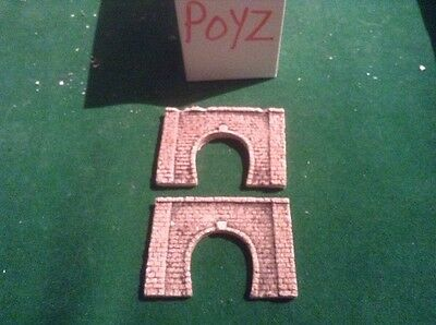 2x single tunnel  - Z scale gauge- painted and weathered-