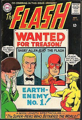 The Flash # 156-1965-Co-Starring Kid Flash-Wanted For Treason! Earth-Enemy No. 1