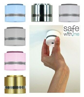 Safewith.me Nano Smoke Detector Fire Alarm 10 Year Battery Life, Many Colours