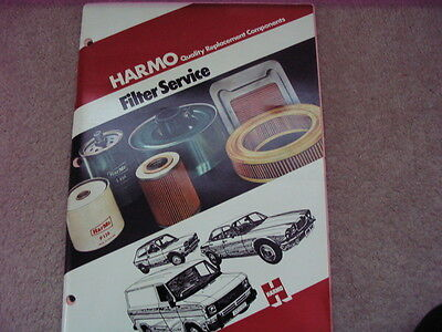 Harmo Filter Catalogue Published 1980 car & commercial