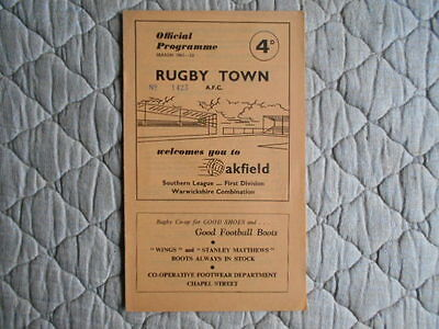 Rugby Town V Hereford Utd Southern League Cup 2Nd Leg Match Programme 1961