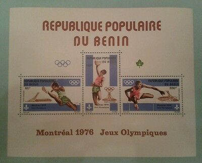 BENIN BF BLOC Neuf  jeux olympiques Montreal 1976