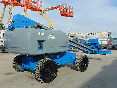 2007 Genie S-60 Diesel 4X4 Boom Man 60Ft Basket Aerial Lift -Excellent Condition