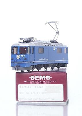 "MINT BEMO 1258 102 HOm - SWISS RhB BLUE Ge 4/4 II  LOCOMOTIVE ""AROSA""  No.622"