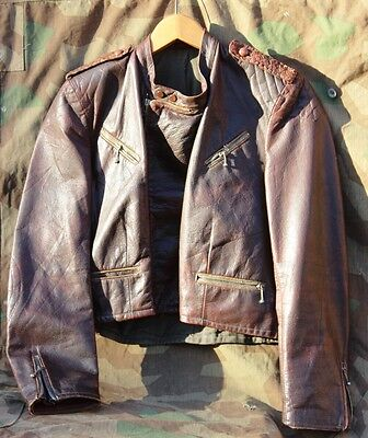 WW2 German Luftwaffe Pilot Brown Leather Jacket - Private Purchase, looks super