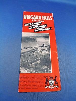 Advertising Brochure Niagara Falls Canada Relaxation Inspiration Recreation