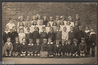 Postcard Griffithstown nr Pontypool Wales infant school class group photo old RP