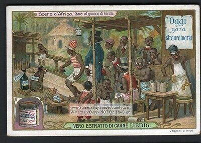 Negro Bowling For Rum - Racist African Art c1906 Trade Ad Card