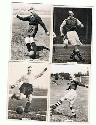 4 Ardath Photocards Cigarette Cards  - Famous Footballers
