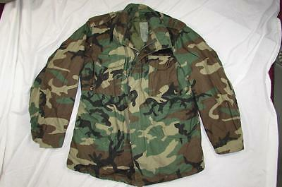 Vtg 90s 1991 US Army Camouflage M-65 Field Jacket Coat Cold Weather Large-Long