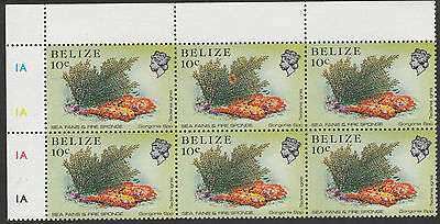 Belize (1778) - 1984 Marine Life 10c with huge constant flaw unmounted mint