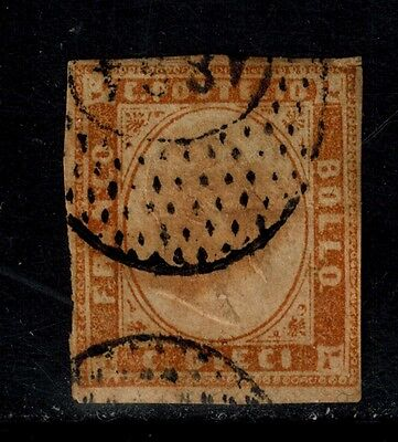 SARDINIA/ Sc.# 11 USED. GREAT CANCEL. ADD THIS NICE STAMP TODAY.