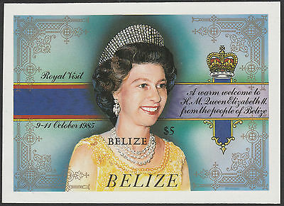 Belize (1760) - 1985 Royal Visit IMPERF m/sheet unmounted mint