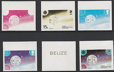 Belize (1762) - 1983 Communications 15c PROGRESSIVE PROOFS unmounted mint