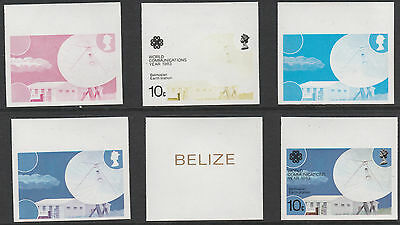 Belize (1764) - 1983 Communications 10c PROGRESSIVE PROOFS unmounted mint