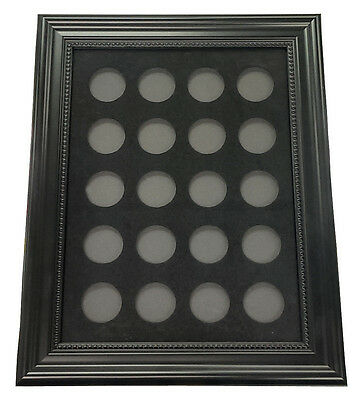 """Chip Insert 20 Casino Chips Display Board with Frame 9x12"""" HOLDS 20 CHIPS *"""