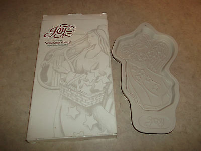 Longaberger 1996 Angel Series Cookie Mold Titled Joy . In Original Box