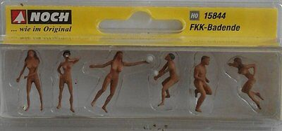 NOCH 15844 Nudists 00/H0 Model Railway Figures
