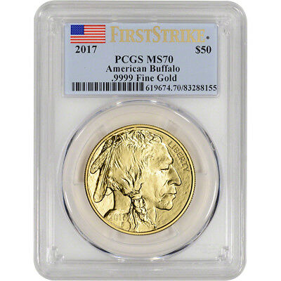 2017 American Gold Buffalo (1 oz) $50 - PCGS MS70 - First Strike