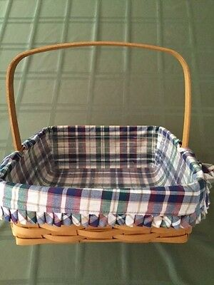 Longaberger Pie Basket Protector Woven Traditions Liner Product Card